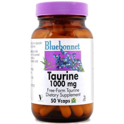 Taurine 1000 mg, 50 Vcaps, Bluebonnet Nutrition