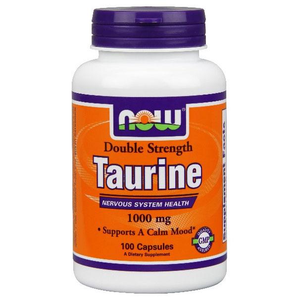 Taurine 1000mg 100 Caps, NOW Foods