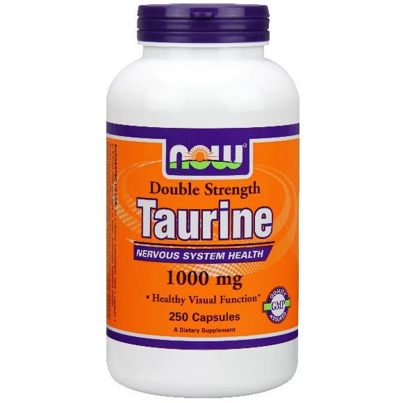 Taurine Double Strength, 1000 mg, 250 Capsules, NOW Foods