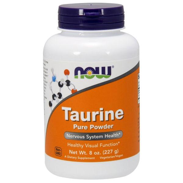Taurine Powder 8 oz, NOW Foods