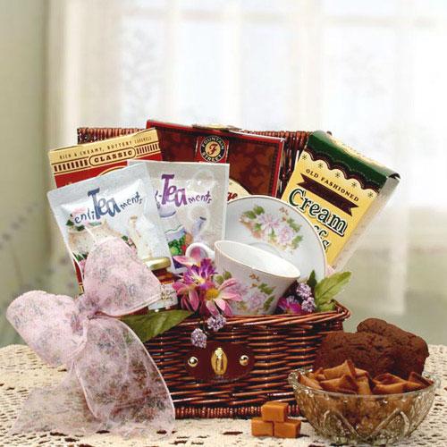 Tea Enlightenments Gift Chest, Elegant Gift Baskets Online