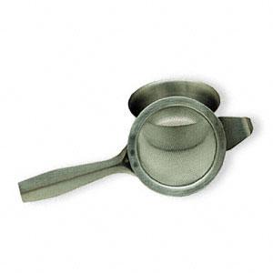 Tea Strainer w/Drip Bowl, 1.75 Inches, StarWest Botanicals