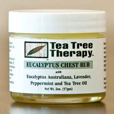 Tea Tree Oil Eucalyptus Chest Rub, 2 oz, Tea Tree Therapy