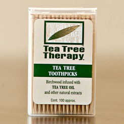 Tea Tree Oil Standard Toothpicks, 100 ct, Tea Tree Therapy