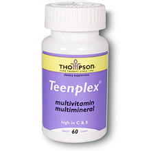 Teenplex, Teen-Plex Multivitamins 60 tabs, Thompson Nutritional Products