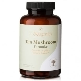 Ten Mushroom Formula, 120 Vegetable Capsules, EcoNugenics