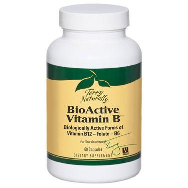 Terry Naturally BioActive Vitamin B, 60 Capsules, EuroPharma