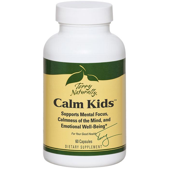 Terry Naturally Calm Kids, Mental Focus & Mind Calmness, 60 Capsules, EuroPharma