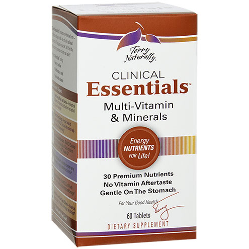 Terry Naturally Clinical Essentials, Multi-Vitamins & Minerals, 60 Tablets, EuroPharma