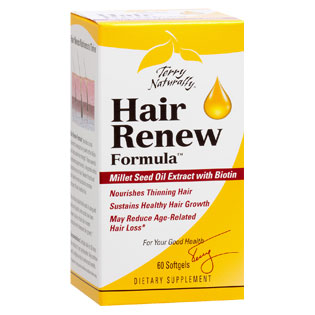 Terry Naturally Hair Renew Formula, Healthy Hair Growth, 60 Softgels, EuroPharma