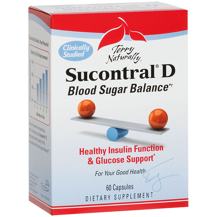 Terry Naturally Sucontral D, Blood Sugar Balance, 60 Capsules, EuroPharma