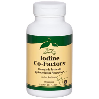 Terry Naturally Iodine Co-Factors, Synergistic Factors Optimize Iodine Absorption, 120 Capsules, EuroPharma