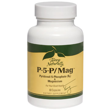 Terry Naturally P-5-P/Mag, Pyridoxal-5-Phosphate (B6) & Magnesium, 60 Capsules, EuroPharma