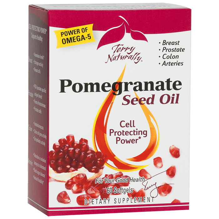 Terry Naturally Pomegranate Seed Oil, 60 Softgels, EuroPharma