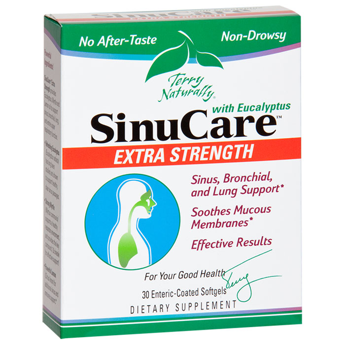 Terry Naturally SinuCare Extra Strength, Powerful Sinus Care, 30 Softgels, EuroPharma