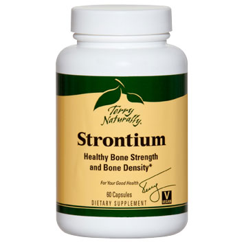 Terry Naturally Strontium, Trace Mineral Essential for Bone Health, 60 Capsules, EuroPharma