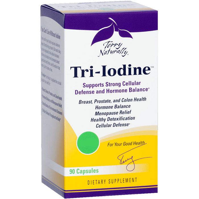 Terry Naturally Tri-Iodine 3 mg, 90 Capsules, EuroPharma