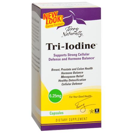 Terry Naturally Tri-Iodine 6.25 mg, 90 Capsules, EuroPharma