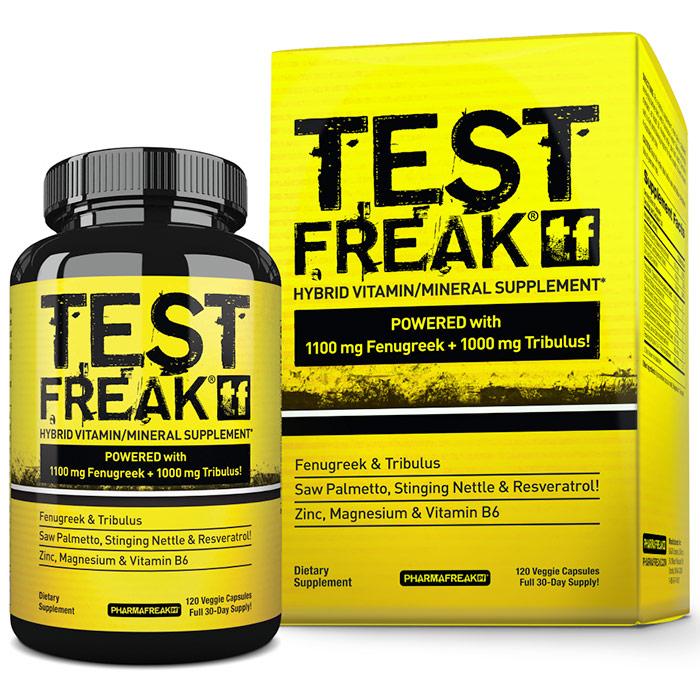 Test Freak, 120 Hybrid Capsules, PharmaFreak Technologies