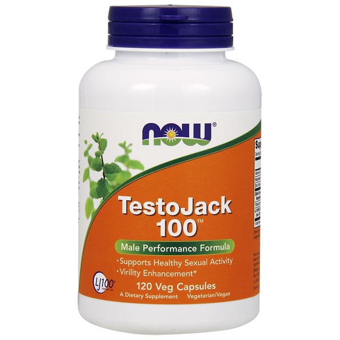 TestoJack 100 (Testo Jack 100), 120 Vcaps, NOW Foods
