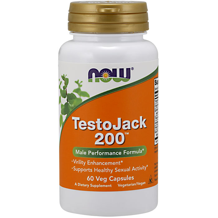 TestoJack 200 (Testo Jack Extra Strength), 60 Vcaps, NOW Foods