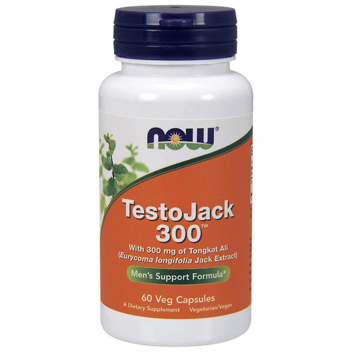 TestoJack 300, Tongkat Ali 300 mg, 60 Vegetarian Capsules, NOW Foods