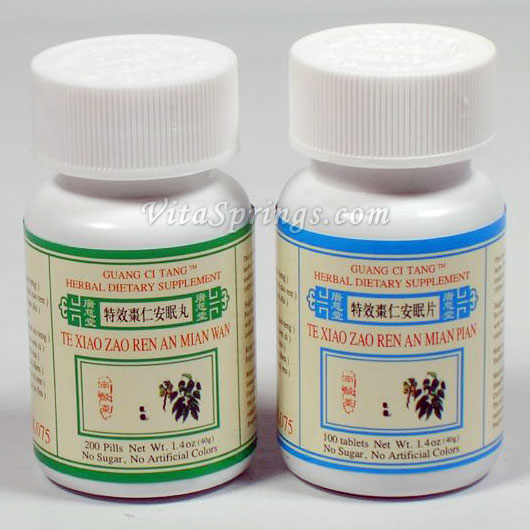 TE XIAO ZAO REN AN MIAN PIAN - 100 tablets ( INSOMNIA , LIGHT  SLEEPER , RESTLESS  SLEEP)