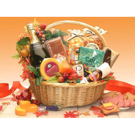 Thanksgiving Gourmet Gift Basket, Large Size, Elegant Gift Baskets Online