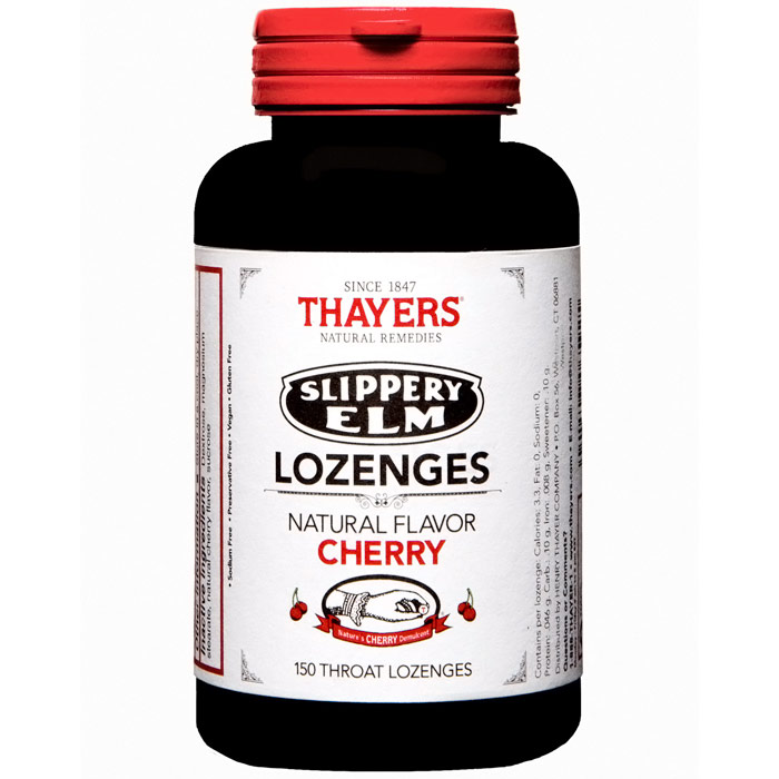 Thayers Slippery Elm Lozenges - Cherry Flavor, Value Size, 150 Throat Lozenges