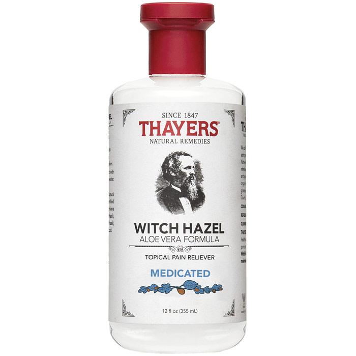 Thayers Witch Hazel Aloe Vera Formula Topical Pain Reliever - Medicated, 12 oz