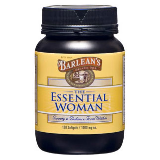 The Essential Woman, 120 Softgels, Barleans Organic Oils (Omega 3/6/9)