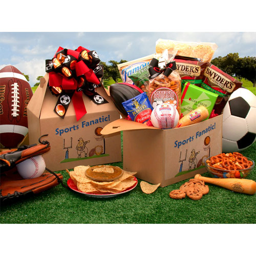 Image of The Sports Fanatic Care Package, Elegant Gift Baskets Online