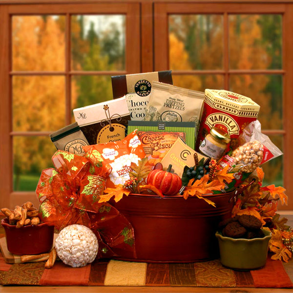 The Tastes of Fall Gourmet Gift Basket, Elegant Gift Baskets Online