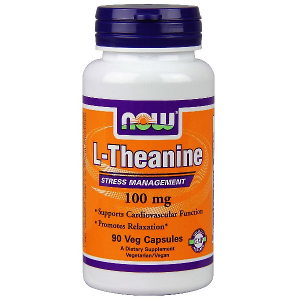 Theanine (L-Theanine) 100mg 90 Vcaps, NOW Foods