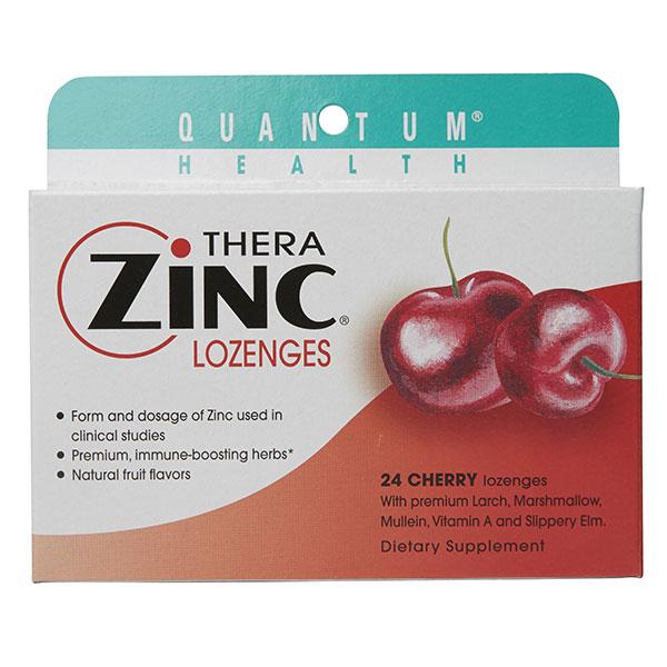 Thera Zinc Lozenges, Cherry, 24 loz, Quantum Health (Vitamins Supplements - Zinc)