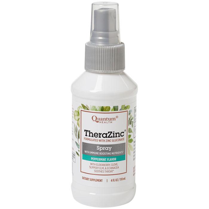 Thera Zinc Spray, With Echinacea & Elderberry, 4 oz, Quantum Health