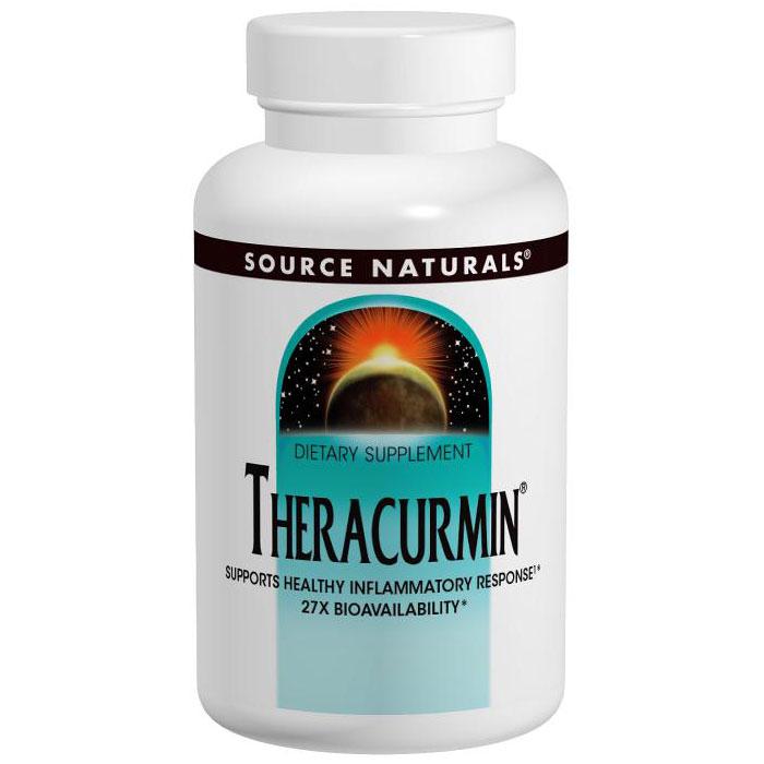 Theracurmin 300 mg, Turmeric Curcumin, 60 Vegetarian Capsules, Source Naturals