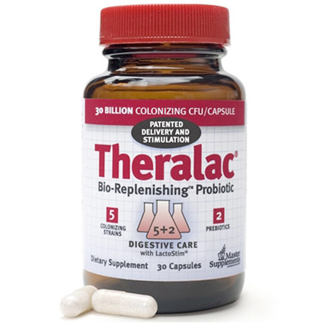 Theralac, Bio-Replenishing Probiotic, 30 Capsules, Master Supplements