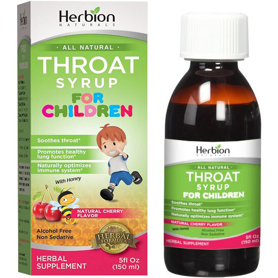 Throat Syrup for Children, 5 oz, Herbion