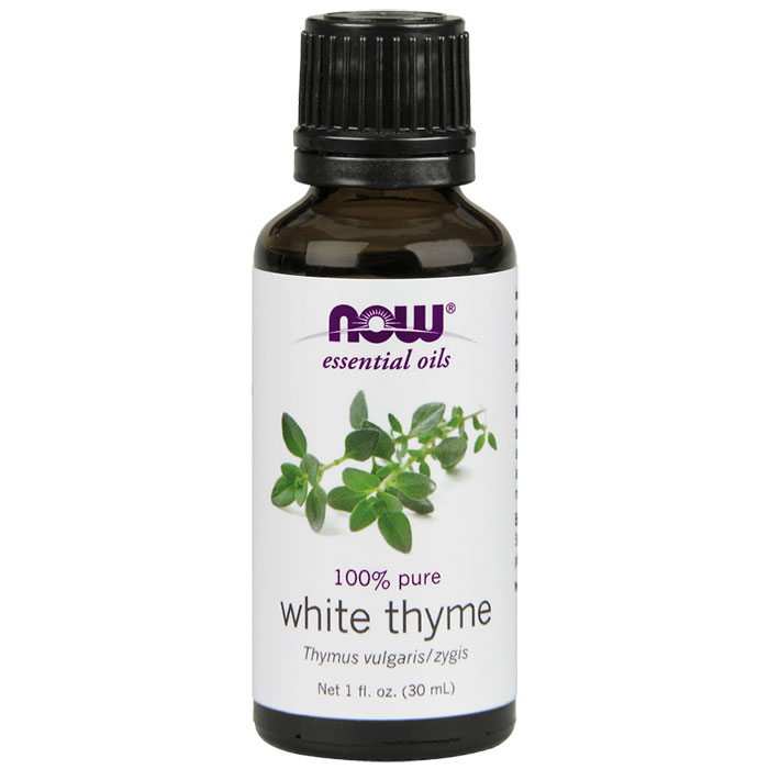 White Thyme Oil, Pure Essential Oil, 1 oz, NOW Foods