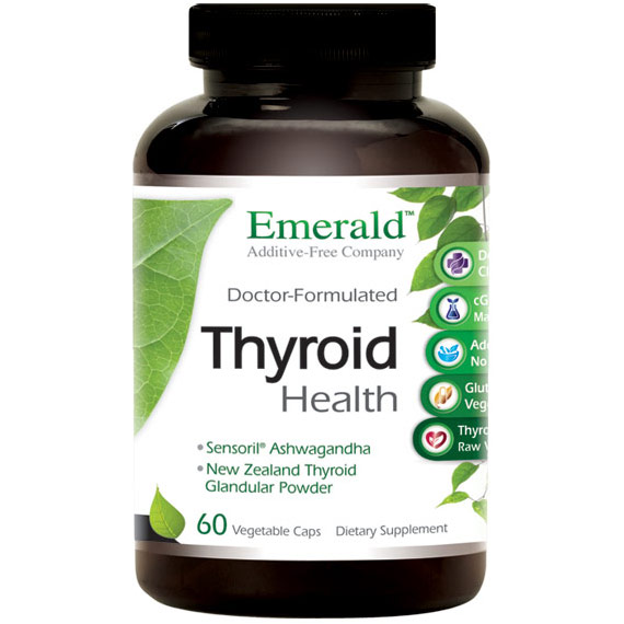 Thyroid Health, 60 Vegetable Capsules, Emerald Labs