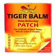 Tiger Balm Patch 8x4 Inch Large Size, 4 Patches, Tiger Balm