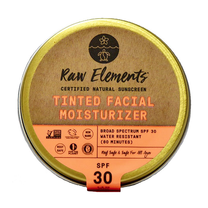 Tinted Facial Moisturizer SPF 30+, Natural Sunscreen, 1.8 oz, Raw Elements