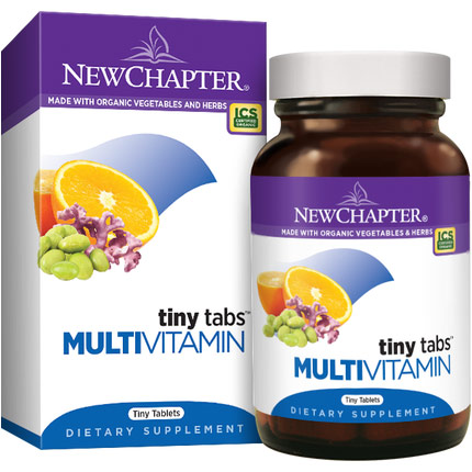 Tiny Tabs Whole-Food Multi-Vitamins (Tiny Tabs Multi), 192 Tablets, New Chapter