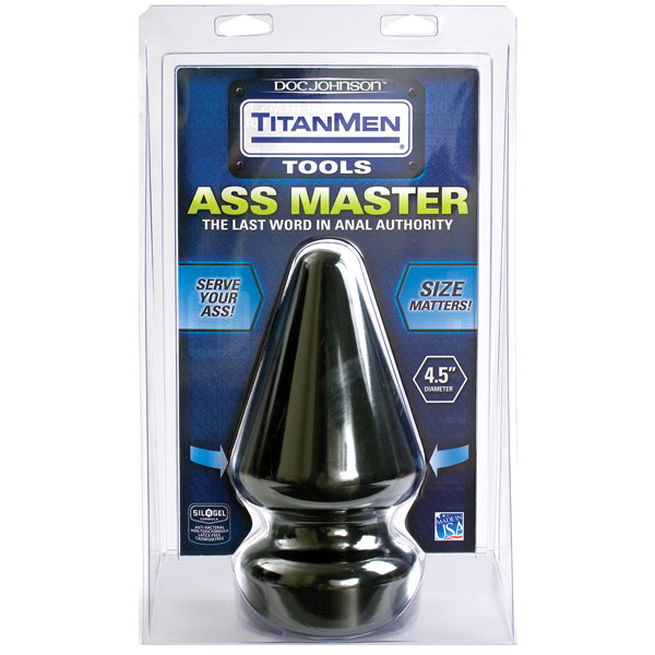 TitanMen 4.5 Inch Diameter Ass Master, Butt Plug, Doc Johnson