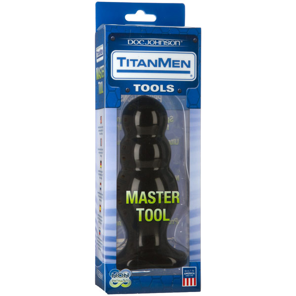 TitanMen Master Tool #4 - Black, Anal Toy, Doc Johnson