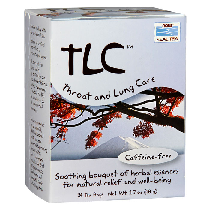 TLC Tea, Throat and Lung Care, 24 Tea Bags, NOW Foods