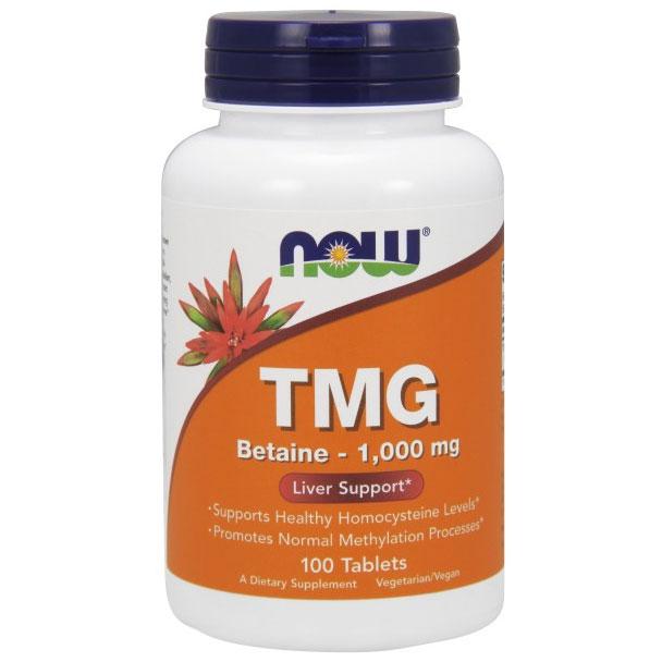 TMG (Trimethylglycine) 1000mg 100 Tabs, NOW Foods