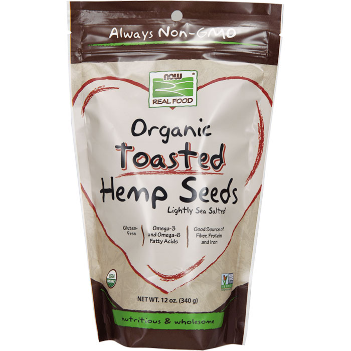 Toasted Hemp Seeds, Organic, 12 oz, NOW Foods