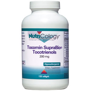 Tocomin SupraBio Tocotrienols 200 mg, 120 Softgels, NutriCology